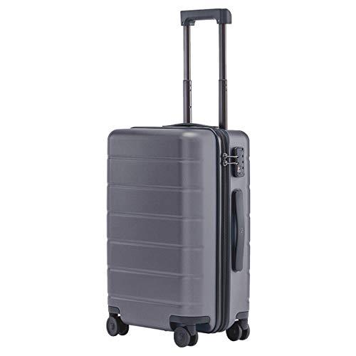 Xiaomi Mi Classic Luggage 20″ 38 Liter Hartschalen Trolley Koffer Rollkoffer aus hochwertigen Polycarbonat mit 4 Rollen und drei Nummern TSA-Zahlenschloss Grau