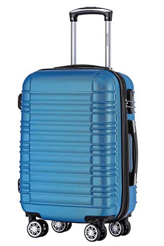 BEIBYE Zwillingsrollen Reisekoffer Koffer Trolleys Hartschale M-L-XL-Set Turquoise, XL