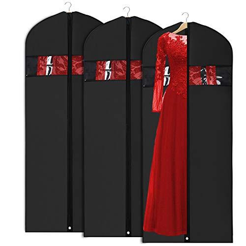 Univivi Leichte Kleidersäcke Kleidersäcke Staubdicht 60 cm x 127 cm, 8er-Set mit durchgehendem Reißverschluss zum Aufbewahren und Transportieren im Schrank