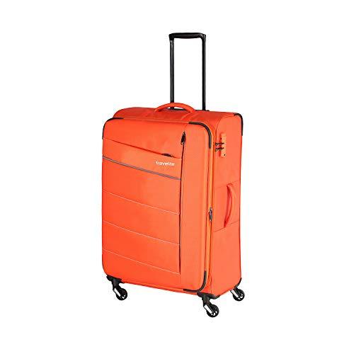 """Travelite Extrem leicht: """"KITE"""" – sportlich-klassische Trolleys, Trolley-Reisetaschen und Bordtaschen Koffer, 75 cm, 95L, Orange"""