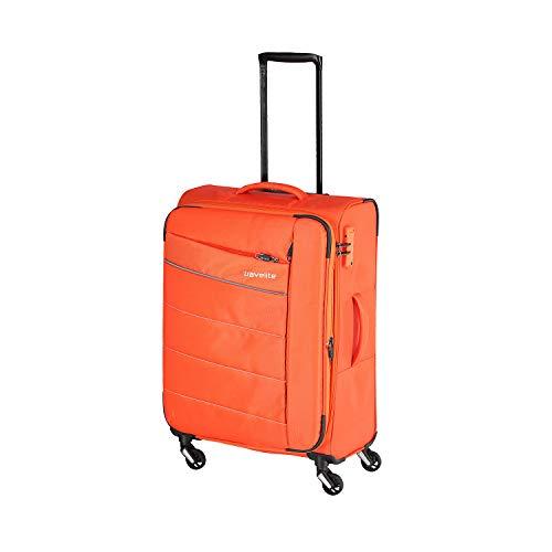 """sportlich-klassische Trolleys, Trolley-Reisetaschen und Bordtaschen Koffer, 64 cm, 67L, Orange – Travelite Extrem leicht: """"KITE"""""""