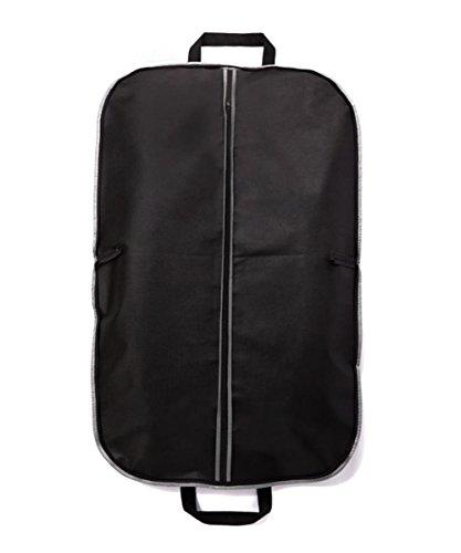 Fyore Staubdichter Kleidersack Anzug-Beutel mit Zwei Handgriffen Und Reißverschlüsse Kleidung Aufbewahrung für Business Reisen Schwarz