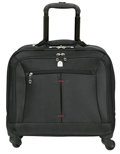 Pilotenkoffer mit Rollen – Tassia – 16″-Laptopfach – 4 Rollen