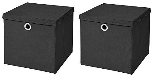 Top 10 Box schwarz Stoff – Aufbewahrungsbehälter mit Deckel