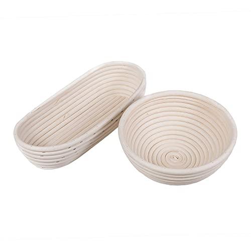 Top 10 Gärkorb Set oval und Rund 500g – Brotbackformen