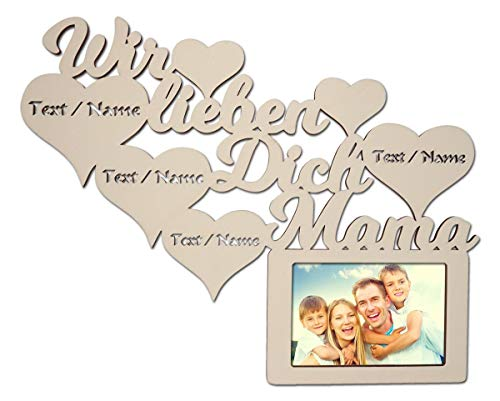 Top 10 wir lieben Dich Mama – Bilderrahmen