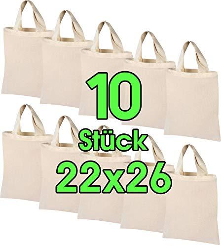 Top 10 Baumwolltasche Klein weiß – Einkaufstaschen