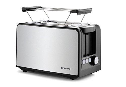 Top 10 Toaster Edelstahl gebürstet mit Brötchenaufsatz – Toaster