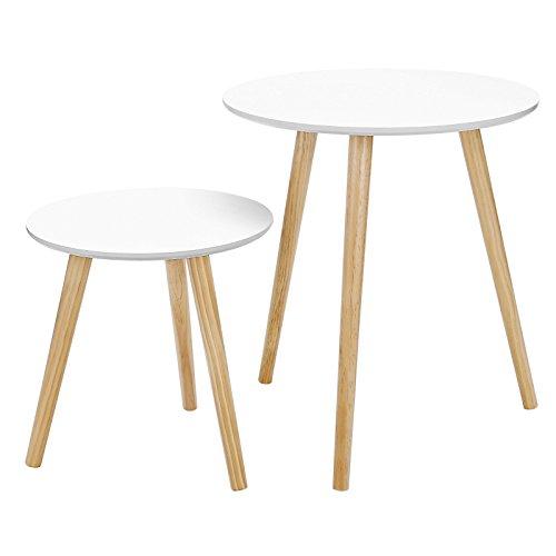 Top 9 Beistelltisch rund Weiß – Tischsets fürs Wohnzimmer
