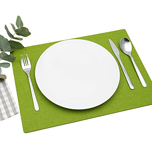 Top 9 Tischset Filz grün – Platzsets