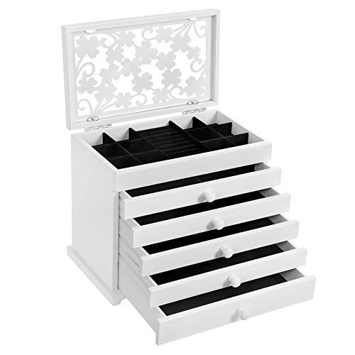 Top 10 Schmuckkoffer Holz Weiß – Schmuckaufbewahrung für den Kleiderschrank