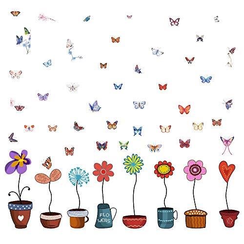 Top 10 Fensterbilder Blumen selbstklebend – Wandtattoos & -bilder
