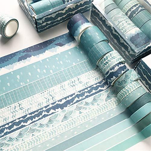 Top 9 Washi Tape Blau Set – Klebebänder