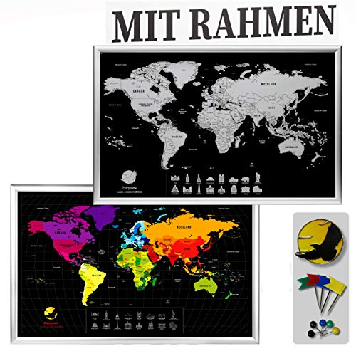 Top 10 Weltkarte Rubbeln mit rahmen – Kratzbilder