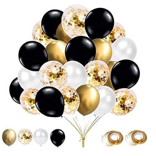 Top 10 Luftballons Gold Weiß Schwarz – Luftballons