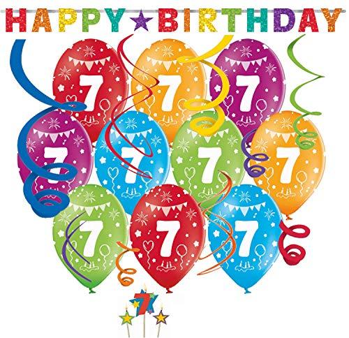 Top 7 Geburtstagskerze 7 jahre Junge – Luftballons
